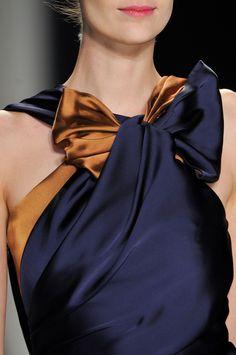 Carolina Herrera gorgeous bronze and navy dress