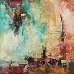 "Saatchi Art Artist: Jennifer Perlmutter; Paint 2013 Painting ""Castle In The Sky"""