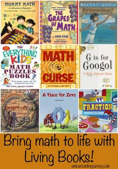 Bring math to life with living books! | embarkonthejourney.com