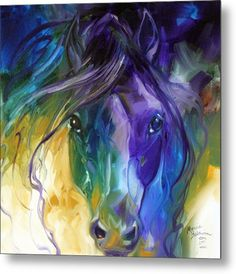 Westland Giftware Canvas Wall Art, Abstract Blue Roan, 15 by Wall Art measures x Officially licensed artwork by Marcia Baldwin Makes a great collector's gift Abstract Horse Painting, Abstract Art, Watercolor Horse, Abstract Watercolor, Watercolor Paintings, Arte Equina, Horse Drawings, Equine Art, Animal Paintings
