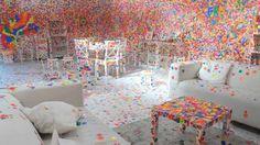 TateShots: Kusama's Obliteration Room - Collaboration Installation