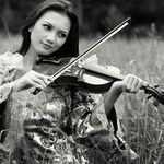 cringe...a pet peeve of mine is a model or actress who is pretending to play the violin.  an actual player can catch the improper bow and instrument hold in about a millisecond.  i would have gladly taken this photo!  haha. no really, good try and it's a beautiful pic otherwise.  love, light, & violin...