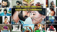 Top 40 - Most Amazing Baahubali 2 Drawings   Drawing Prabhas   Drawing A... 3d Drawings, Realistic Drawings, Prabhas And Anushka, Bahubali 2, Top 40, Die Hard, The Incredibles, Amazing, Color