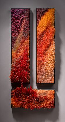 "The Glasswork of Shayna Leib  (Leib says: ""I use glass, not for its mimetic quality to capture the look of stone or plastic, but for its most unique properties; the inclination to flow, the capacity to freeze a moment in time, and its ability to manipulate optics."" )"