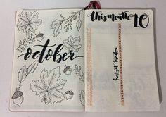 Bullet journal This month october