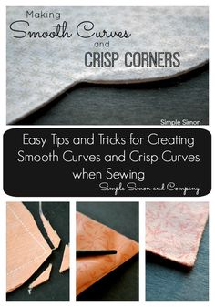 Tips For Sewing Smooth Curves and Creating Crisp Corners - Simple Simon and Company