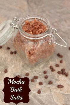 You can't miss this awesome Mocha Bath Salts Recipe! Plus, I also have the Mocha Sugar Scrub Recipe to pair it with!