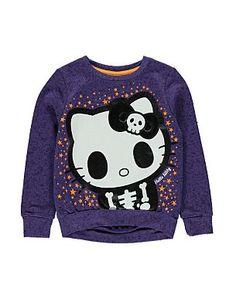 Hello Kitty Skull Print Sweatshirt