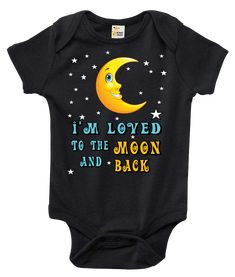 I'm Loved to the Moon and Back One-piece Baby Bodysuit
