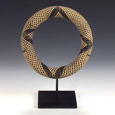 Basketry base for a ceramic pot; INGATA Tutsi people Rwanda and Burundi 20th century Plant fibers, coiling