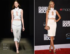 Karolina Kurkova In Dion Lee – Fashion Rocks 2014