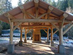Log Picnic Shelters | Mountain Log Homes - Custom Log Homes in Kalama, WA