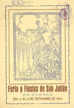San Julián 1954 Programa de la Feria y Fiestas de San Julián 4 al 8 de septiembre 1954 Fuegos artificiales acuáticos en el Recreo Peral