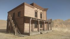 I'm happy to anounce my new asset - HQ Western Saloon. Asset already available on Asset Store! Wild West Games, Old West Town, Western Saloon, Aztec Art, Le Far West, Ghost Towns, Home Art, Fairies, Westerns