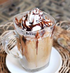 Copycat Starbucks Frappuccinos that taste like the real thing: http://chocolatecoveredkatie.com/2011/08/01/healthy-starbucks-frappuccinos/