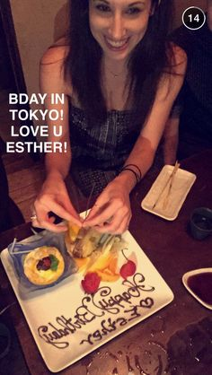 Yay happy birthday Esther Avi's sister and the wonderful Ptx tour manager