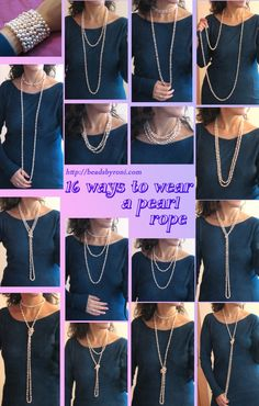 16 different ways to wear a pearl rope!