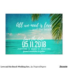 Love and the Beach Wedding Save the Dates
