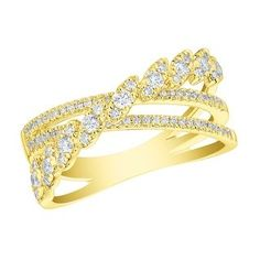 Prism Jewel G-H//I1 Round Natural Diamond Clasy Style Designer Ring