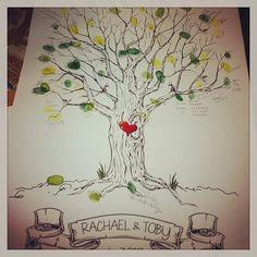 "Fingerprint Tree David and I ""signed"" at a wedding party. We made a heart!"