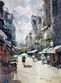 Street near Ben Thanh Market. Ho Chi Minh by Direk Kingnok