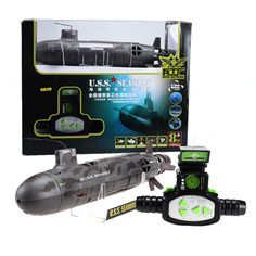 Fun Maker 13000 Seawolf 6-CH Radio Control Simulation Series RC Nuclear Racing Submarine Model Torpedo Pigboat Kids Toy