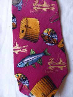Vintage Fisherman Tie Lilian Venon Nice