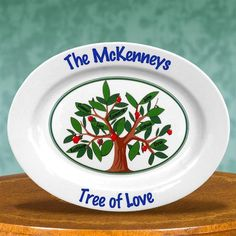 #MothersDay Family Tree of Love Personalized Keepsake Platters. The Apple Doesn't Fall Far from the Tree! You can personalize this piece with up to 16 names! This platter makes a wonderful gift for an extended family, your family or a close friend's. Celebrate family love with this unique gift idea. People love our Family Tree Platter. This piece is sure to become a treasured family heirloom.