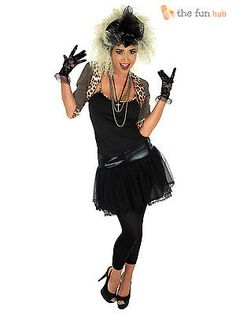 Size 8-22 ladies 80s pop star costume wild child #fancy #dress womens #outfit adu,  View more on the LINK: http://www.zeppy.io/product/gb/2/182180927910/