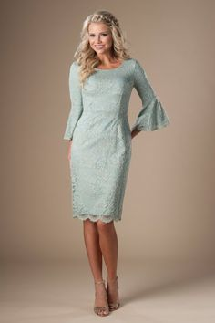 13b87e55d994 modest bridesmaid dresses in utah with lace and full belle sleeve, Latter  Day Bride Modest