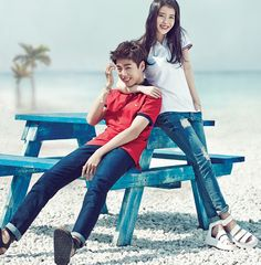 IU and Lee Hyun Woo - Unionbay S/S 2015 Lee Hyun Woo, Korean Celebrities, Korean Actors, Jessica Jung Fashion, Moorim School, Jimin, Sister Photos, Korean Fashion Men, Korean Couple