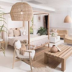 Interior Living Room Design Trends for 2019 - Interior Design Home Decor Bedroom, Interior Design Living Room, Living Room Designs, Living Room Decor, Dining Room, Beach Interior Design, Bali Bedroom, Nature Bedroom, Bedroom Ideas