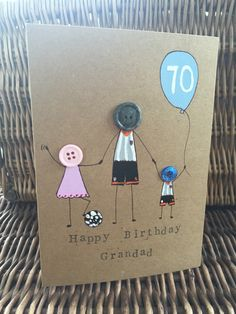 Lovely birthday card for a Fulham supporting grandad x