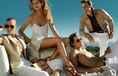 Models Dave Genat, Edita Vilkeviciute, Shaun De Wet, and Toni Garrn are the sublime new faces of Massimo Dutti Spring Summer 2014 collection. The dreamy set was captured by the legendary fashion photographer Mario Testino.