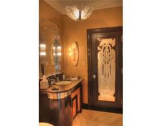 Art deco bathroom.