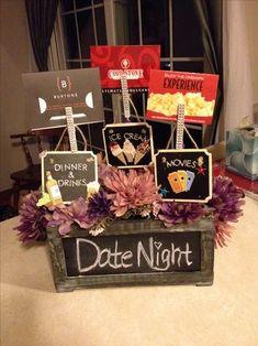 Fundraiser Baskets, Raffle Baskets, Fundraiser Raffle Ideas, Hospital Gift Baskets, Boyfriend Gift Basket, Boyfriend Gifts, Buenas Ideas Para Regalos, Craft Gifts, Diy Gifts