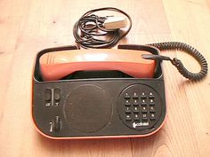 FRENCH 1970s Vintage Telephone Phone  Black and by ladouchka, $75.00