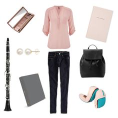 """""""Classy School Style"""" by mgillispie on Polyvore featuring Urban Decay, Kate Spade, maurices, American Eagle Outfitters, Tieks, MANGO and Honora"""