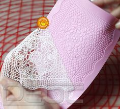 Lace Shaped Silicone Mold Mould Fondant Cake Decoration Baking Tools