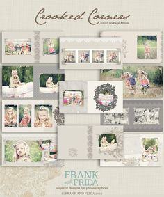 10x10 Album Template - Crooked Corner Press Printed Album. $40.00, via Etsy.
