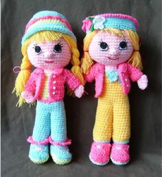 Crochet Doll Clothes, Knitted Dolls, Crochet Dolls, Amigurumi Doll, Amigurumi Patterns, Doll Patterns, Crochet Motifs, Crochet Patterns, Play Clothing