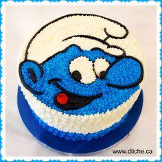Smurf cake! Gâteau de Schtroumpf! | Simplement D Liche Cupcakes ...