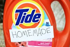 Homemade Liquid Laundry Detergent with the Power of TIDE!!  HUGE Budget Saver for all the Tide lovers out there!!