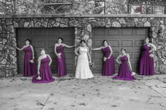 #bridal party, beautiful bridesmaids with bride photo, pittsburgh weddings, pittsburgh wedding photographers, purple fall wedding, unique bridal party photos, @2nd II None Productions