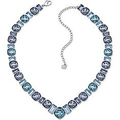 Swarovski: palladium-plated masterpiece | shimmers with crystals in a stunning variety of blue shades, from Montana to Denim Blue.
