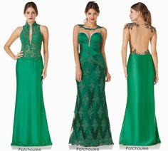 vestido de festa verde 2015 formanda