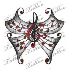 Ideas Tattoo Music Butterfly Treble Clef - Ideas Tattoo Music Butterfly Treble Clef You are in the right place about unique tattoo Here we - Wörter Tattoos, Music Tattoos, Trendy Tattoos, Body Art Tattoos, Small Tattoos, Tattos, Image Tatoo, Create My Tattoo, Music Notes Art