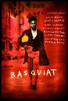 Basquiat, Directed by Julian Schnabel. Brilliantly played by Jeffrey Wright, with a spot-on Andy Warhol channeled through David Bowie. Jean Michel Basquiat, Gary Oldman, Michael Wincott, Andy Warhol, Basquiat Artist, Great Films, Good Movies, Art Movies, Artists