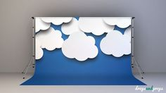 Baby Clouds Photography Backdrop by DropsProps on Etsy, $25.00