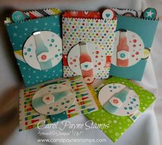 Stampin' Up! Bubbles & Fizz Mini Treat Bag Birthday Cards!